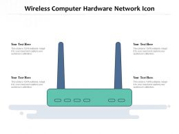 Wireless Computer Hardware Network Icon