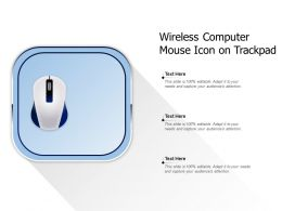 Wireless Computer Mouse Icon On Trackpad