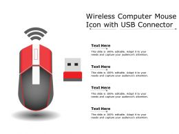 Wireless Computer Mouse Icon With Usb Connector