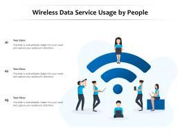 Wireless Data Service Usage By People