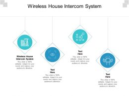 Wireless House Intercom System Ppt Powerpoint Presentation Inspiration Outline Cpb