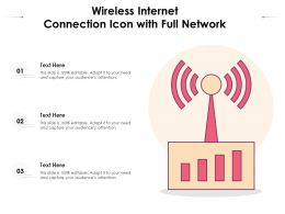 Wireless Internet Connection Icon With Full Network