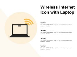Wireless Internet Icon With Laptop