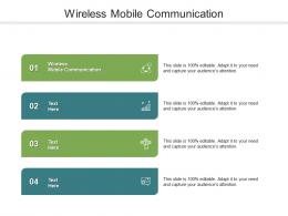 Wireless Mobile Communication Ppt Powerpoint Presentation Inspiration Picture Cpb