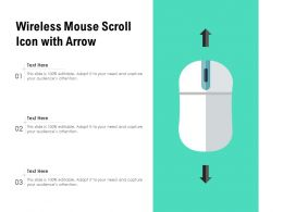 Wireless Mouse Scroll Icon With Arrow