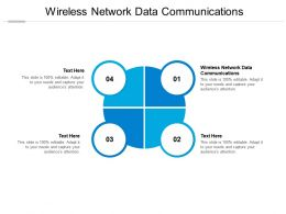 Wireless Network Data Communications Ppt Powerpoint Presentation Layouts Pictures Cpb
