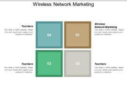Wireless Network Marketing Ppt Powerpoint Presentation Show Slide Download Cpb