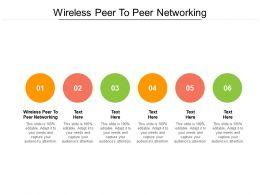 Wireless Peer To Peer Networking Ppt Powerpoint Presentation Portfolio Show Cpb