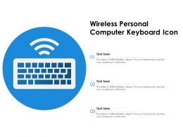 Wireless Personal Computer Keyboard Icon