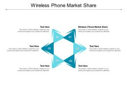 Wireless Phone Market Share Ppt Powerpoint Presentation Infographic Template Display Cpb