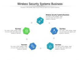 Wireless Security Systems Business Ppt Powerpoint Portfolio Master Slide Cpb