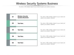Wireless Security Systems Business Ppt Powerpoint Presentation Summary Show Cpb