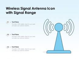 Wireless Signal Antenna Icon With Signal Range