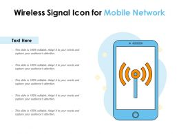 Wireless Signal Icon For Mobile Network