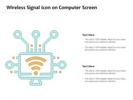 Wireless Signal Icon On Computer Screen
