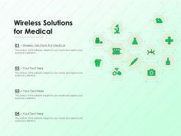 Wireless Solutions For Medical Ppt Powerpoint Presentation Show Vector