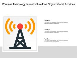 Wireless Technology Infrastructure Icon Organizational Activities