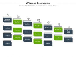 Witness Interviews Ppt Powerpoint Presentation Infographics Example Topics Cpb