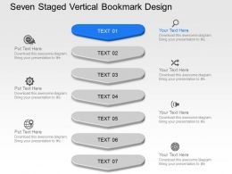 Wk Seven Staged Vertical Bookmark Design Powerpoint Template