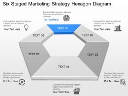 Wl Six Staged Marketing Strategy Hexagon Diagram Powerpoint Template