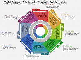 wn Eight Staged Circle Info Diagram With Icons Flat Powerpoint Design