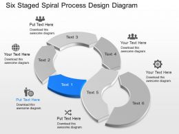 Wn Six Staged Spiral Process Design Diagram Powerpoint Template