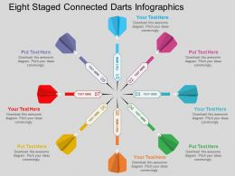 wo Eight Staged Connected Darts Infographics Flat Powerpoint Design