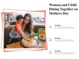 Woman And Child Dining Together On Mothers Day