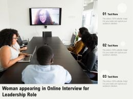 Woman Appearing In Online Interview For Leadership Role
