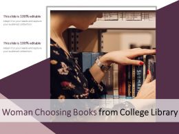 Woman Choosing Books From College Library