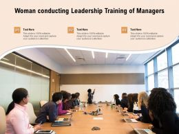 Woman Conducting Leadership Training Of Managers