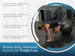 Woman Doing Abdominal Exercise For Weight Loss