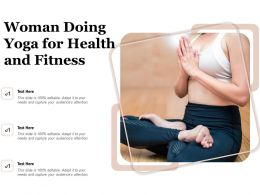Woman Doing Yoga For Health And Fitness