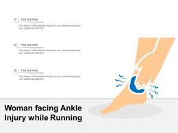 Woman Facing Ankle Injury While Running