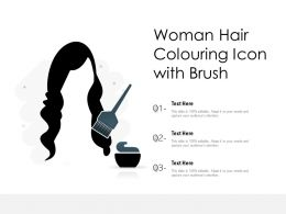 Woman Hair Colouring Icon With Brush