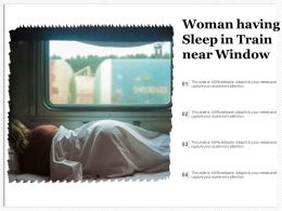 Woman Having Sleep In Train Near Window