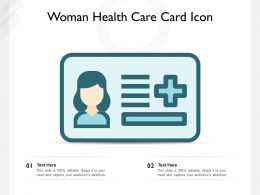 Woman Health Care Card Icon