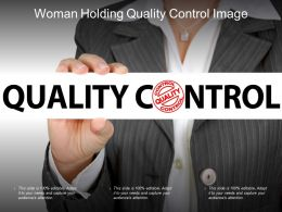 Woman Holding Quality Control Image