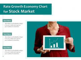 Woman Holding Rate Growth Investment Chart On Mobile Tablet