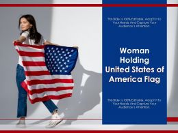 Woman Holding United States Of America Flag