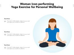 Woman Icon Performing Yoga Exercise For Personal Wellbeing