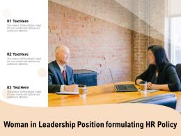 Woman In Leadership Position Formulating HR Policy