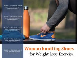 Woman Knotting Shoes For Weight Loss Exercise