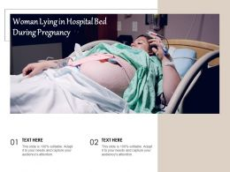 Woman Lying In Hospital Bed During Pregnancy