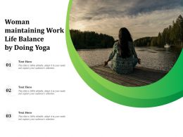 Woman Maintaining Work Life Balance By Doing Yoga