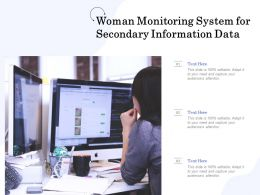 Woman Monitoring System For Secondary Information Data