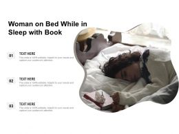 Woman On Bed While In Sleep With Book