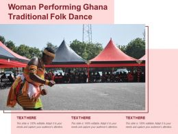 Woman Performing Ghana Traditional Folk Dance