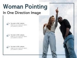 Woman Pointing In One Direction Image