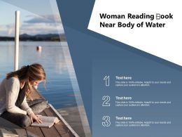 Woman Reading  Book Near Body Of Water